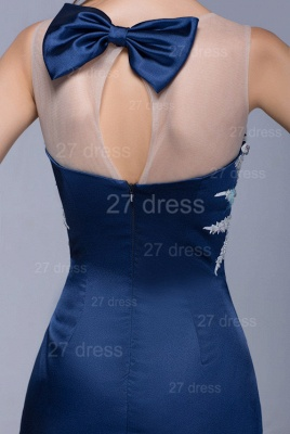 Newest Illusion Beadings Crystals Mermaid Evening Dress Floor-length_5