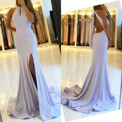 Halter Backless 2020 Evening Dress | Backless Prom Dress With Slit BA7367_3