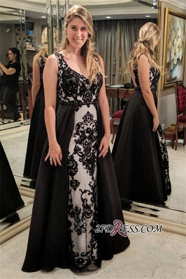 Long black prom dress, 2020 evening dresses for sale_2