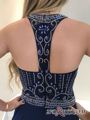 Navy long prom dress, 2020 party dresses_2
