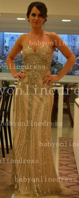 Chiffon Sheer Formal Evening Gowns Dresses with Vestidos De Prom Sweetheart Vestidos Female Tulle Top Beaded_1