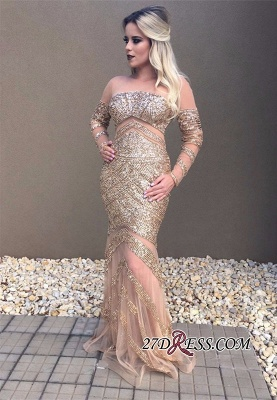 Long sleeve crystal prom dress,formal dresses online_2