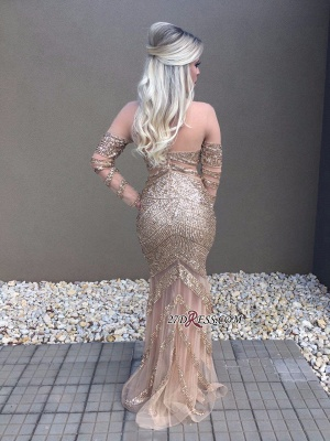 Long sleeve crystal prom dress,formal dresses online_1