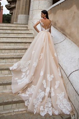 Gorgeous Off-the-Shoulder 2020 Wedding Dresses | Princess Overskirt Bridal Gowns On Sale_2