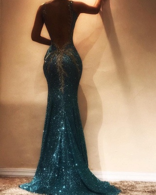 Glamorous Sleeveless Sequins Evening Dress | 2020 Mermaid Prom Dress on Sale BA9598_3