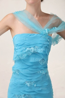 Gorgeous Blue Evening Dresses 2020 Tiered Sequined Mermaid Prom Gowns_3