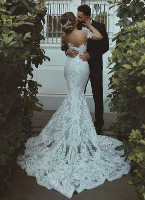 Glamorous Sweetheart Off-the-Shoulder Wedding Dress | Mermaid Bridal Gown With Lace On Sale_3