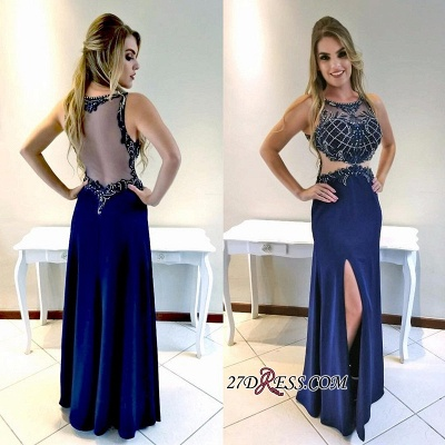 Sexy prom dresses, evening party dress with slit_1