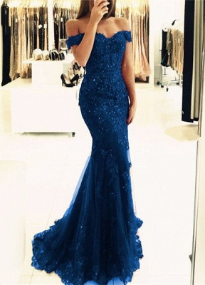 Off-the-Shoulder Prom Dress | 2020 Lace Appliques Evening Gowns_1