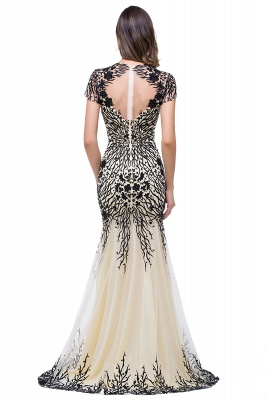 Sparkly Cap Sleeve 2020 Mother Of the Bride Dress Appliques Mermaid Evening Gown_5