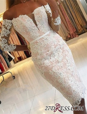 Off-the-Shoulder Long-Sleeves Appliques Sheath Pink Sexy Homecoming Dress qq0363_3