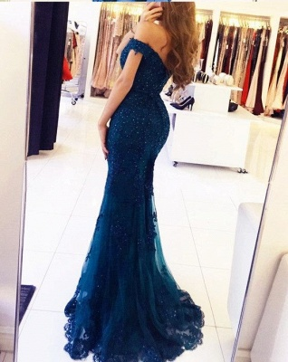 Off-the-Shoulder Prom Dress | 2020 Lace Appliques Evening Gowns_3