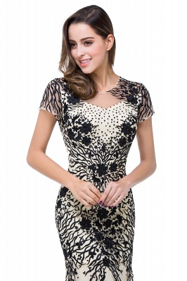 Sparkly Cap Sleeve 2020 Mother Of the Bride Dress Appliques Mermaid Evening Gown_2