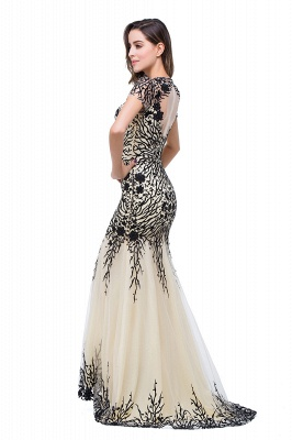 Sparkly Cap Sleeve 2020 Mother Of the Bride Dress Appliques Mermaid Evening Gown_4
