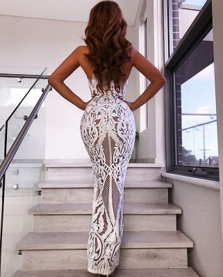 Sexy Lace Halter Prom Dresses | 2020 Long Slit Evening Gowns On Sale BC1683_2