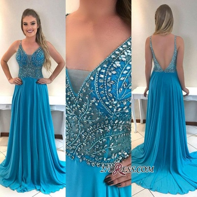 Chiffon prom dress, evening dresses 2020 with crystal_1