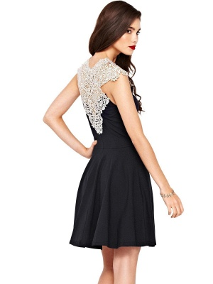 Beautiful Lace Cap Sleeve 2020 Short Prom Dress A-Line Homecoming Dress_2