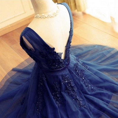 Delicate Lace Straps Sleeveless Beads A-line Short Homecoming Dress_4