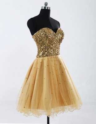Glamorous Sweetheart Sleeveless Short Homecoming Dress With Sequins LF17155_3