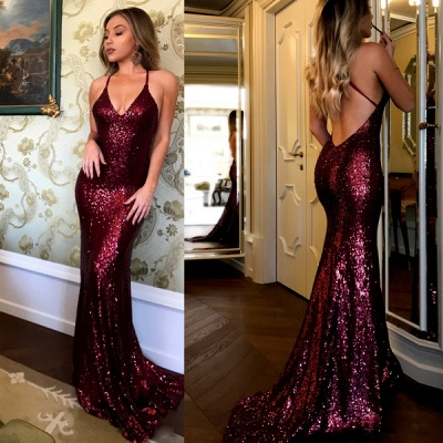 Sexy sequins prom dress, 2020 mermaid evening gowns BA7290_2
