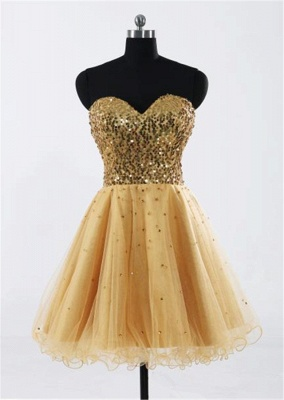 Glamorous Sweetheart Sleeveless Short Homecoming Dress With Sequins LF17155_4