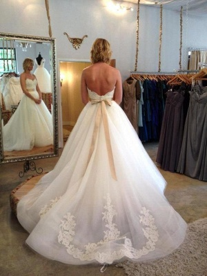 Gorgeous Sweetheart Princess 2020 Wedding Dresses Lace Appliques Tulle_4