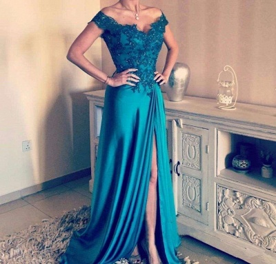 Glamorous Off-the-Shoulder Evening Dress | Lace Prom Dress On Sale_2