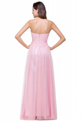 Elegant Sweetheart Pink Bridesmaid Dress 2020 Ruched Long Prom Gown_4