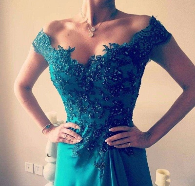 Glamorous Off-the-Shoulder Evening Dress | Lace Prom Dress On Sale_3