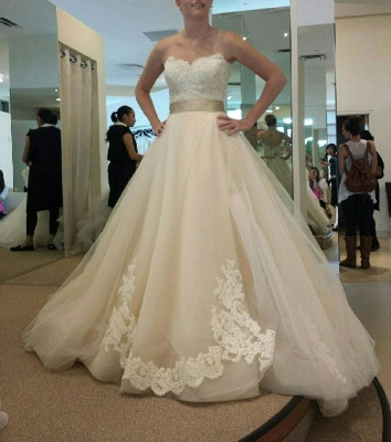 Gorgeous Sweetheart Princess 2020 Wedding Dresses Lace Appliques Tulle_3
