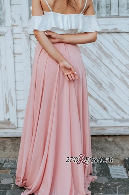 Spaghetti-Straps A-line Elegant Floor-Length Backless Bridesmaid Dresses_1