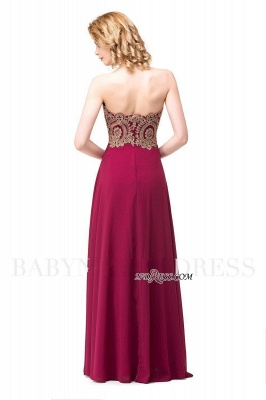 2020 Appliques Chiffon Long Burgundy Cheap Sweetheart-Neck Prom Dresses_10