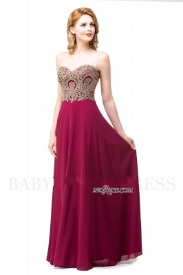 2020 Appliques Chiffon Long Burgundy Cheap Sweetheart-Neck Prom Dresses_8