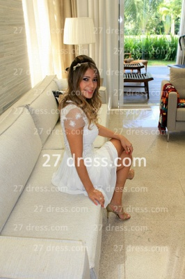 Prom De Short White Lace Cocktail Dress with New Arrival Elegant Gowns Vestidos Fiesta Sleeves_5
