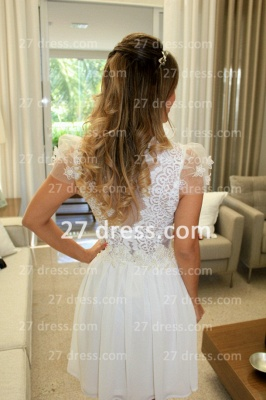 Prom De Short White Lace Cocktail Dress with New Arrival Elegant Gowns Vestidos Fiesta Sleeves_3