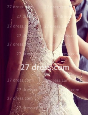 Beading Bridal High Neck Lace Wedding Dresses 2020 Sheer Backless Sleeveless Court Train Gowns_3