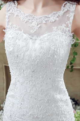Timeless Mermaid Lace 2020 Wedding Dress Zipper Button Back Sweep Train_3