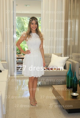 Prom De Short White Lace Cocktail Dress with New Arrival Elegant Gowns Vestidos Fiesta Sleeves_1