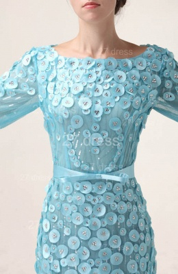 Bateau Long Sleeves Evening Dresses 2020 Mermaid Sequined prom Gowns_3