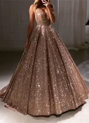 Glamorous Sleeveless Sequins 2020 Prom Dresses | Princess Long Evening Gowns On Sale BC0412_1