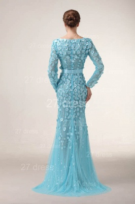 Bateau Long Sleeves Evening Dresses 2020 Mermaid Sequined prom Gowns_6