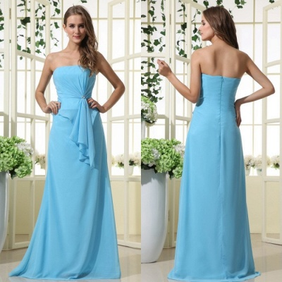 Elegant Strapless 2020 Bridesmaid Dress | Mermaid Chiffon Maid Of Honor Bridesmaid Dress_6