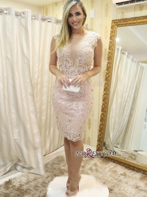 Lace tight short prom dress, 2020 homecoming dress_4