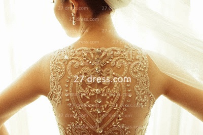 Beaded Bridal Wedding Dresses with Sheer Back 2020 Sexy Sleeveless Organza A-line Top Court Train Gowns Buttons_5