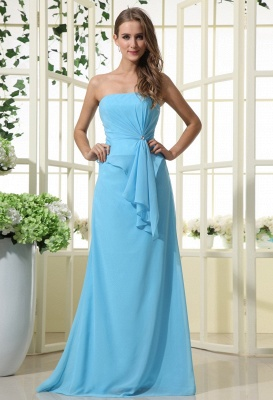Elegant Strapless 2020 Bridesmaid Dress | Mermaid Chiffon Maid Of Honor Bridesmaid Dress_1
