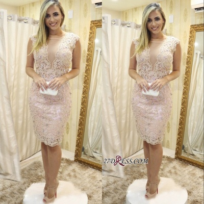 Lace tight short prom dress, 2020 homecoming dress_1