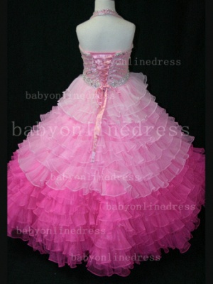 Beaded Ball Gown Dresses for Girls with 2020 Hot Sale Formal Gowns Teens Summer Layered Pageant Shops_2