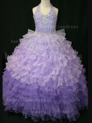 Beaded Ball Gown Dresses for Girls with 2020 Hot Sale Formal Gowns Teens Summer Layered Pageant Shops_4