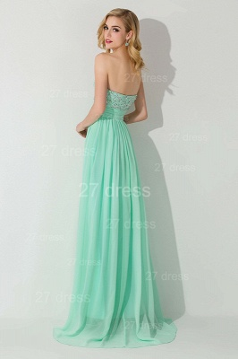 Modern Chiffon A-line Crystals Evening Dress Sweetheart Sleeveless_2