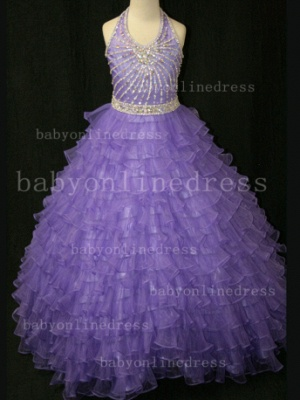 Beaded Ball Gown Dresses for Girls with 2020 Hot Sale Formal Gowns Teens Summer Layered Pageant Shops_5
